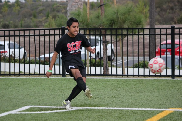 Junior winger Oscar Hernandez and the San Clemente boys soccer team will face Paramount on December 14. Photo by Steve Breazeale