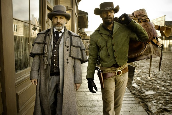 Christoph Waltz and Jamie Foxx in 'Django Unchained.'