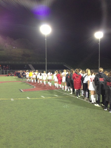 The San Clemente girls soccer team drew to a 1-1 tie with Tesoro on January 22. Photo by Steve Breazeale