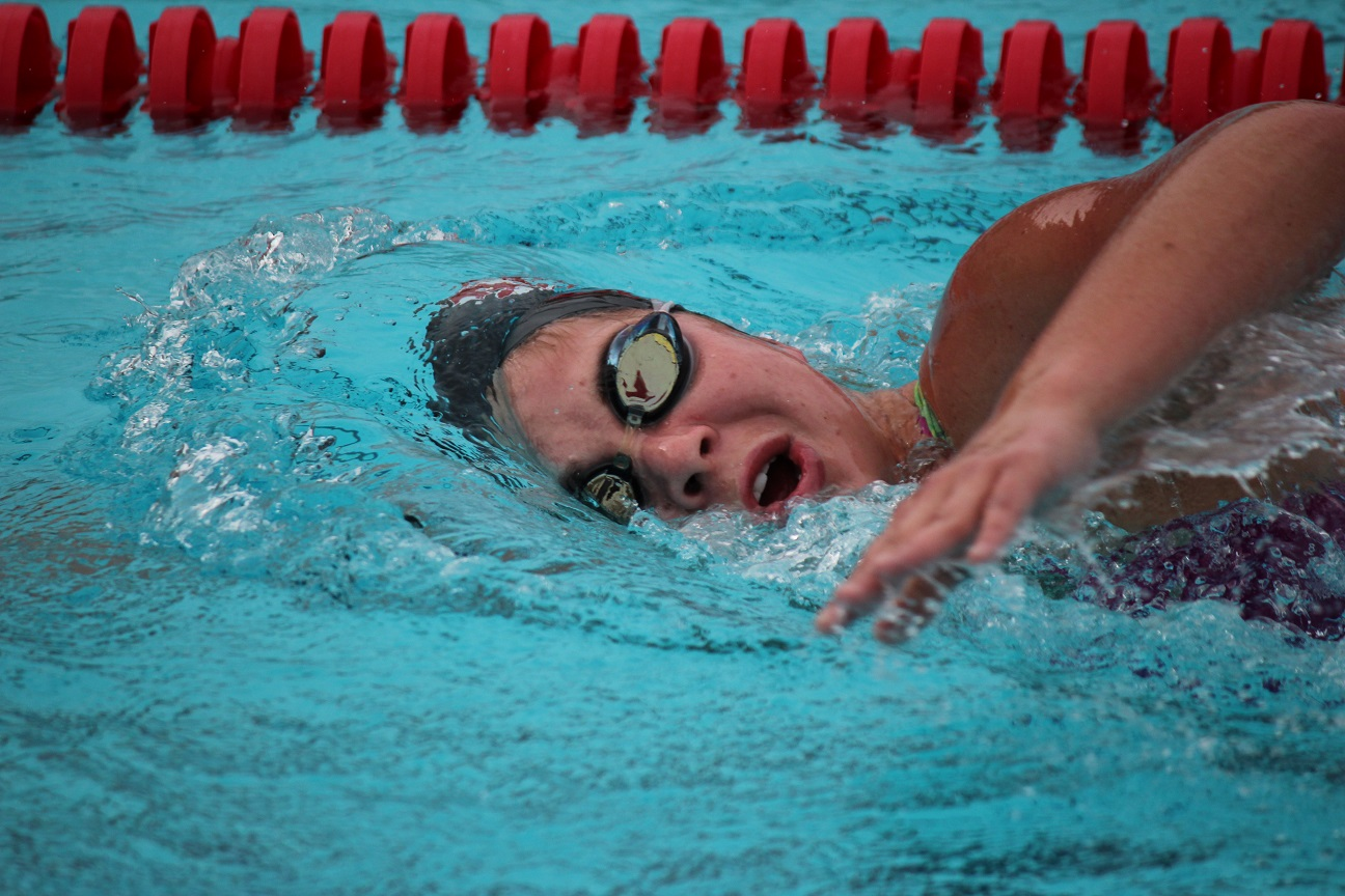 Kimmy Jaramillo will be a versatile swimmer for the San Clemente swim team this season. Photo by Steve Breazeale