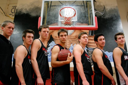 The San Clemente boys basketball team is one win away from the school's first league title in 38 years. Photo by Kevin Dahlgren