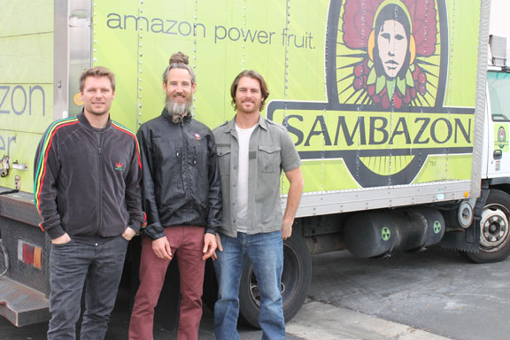 Ryan Black, left, Ed Nichols and Jeremy Black have lead San Clemente-based Sambazon to become a global provider of açaí products. Photo by Andrea Papagianis