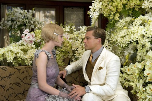 Carey Mulligan and Leonardo DiCaprio in