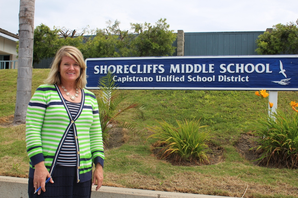Heidi Crowley of Shorecliffs Middle School, along with six other new principals, have moved into San Clemente this year. Photo by Jim Shilander
