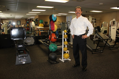Daniel Souza, physical therapist and owner of SCOR Physical Therapy in San Clemente, celebrates 25 years in business. Photo by Andrea Swayne