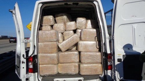 Border Patrol agents stopped this van which carried more than $1.6 million in marijuana near San Clemente Saturday. Photo courtesy of the Border Patrol.