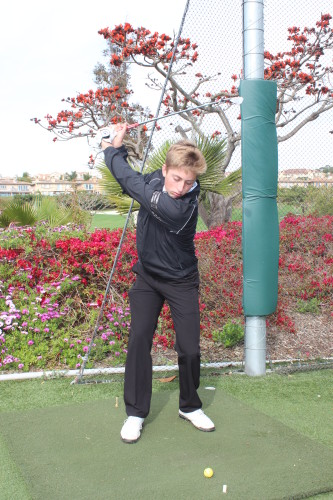 San Clemente junior Austin Briggs shot a 37 (+1) on the front nine at San Juan Hills Golf Club on March 31 to earn his first match medal of the year. Photo: Steve Breazeale