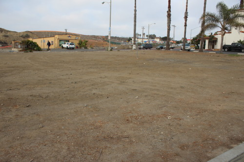 The San Clemente City Council approved moving forward with a parking lot at the city owned lot on North El Camino Real Tuesday. Photo by Jim Shilander