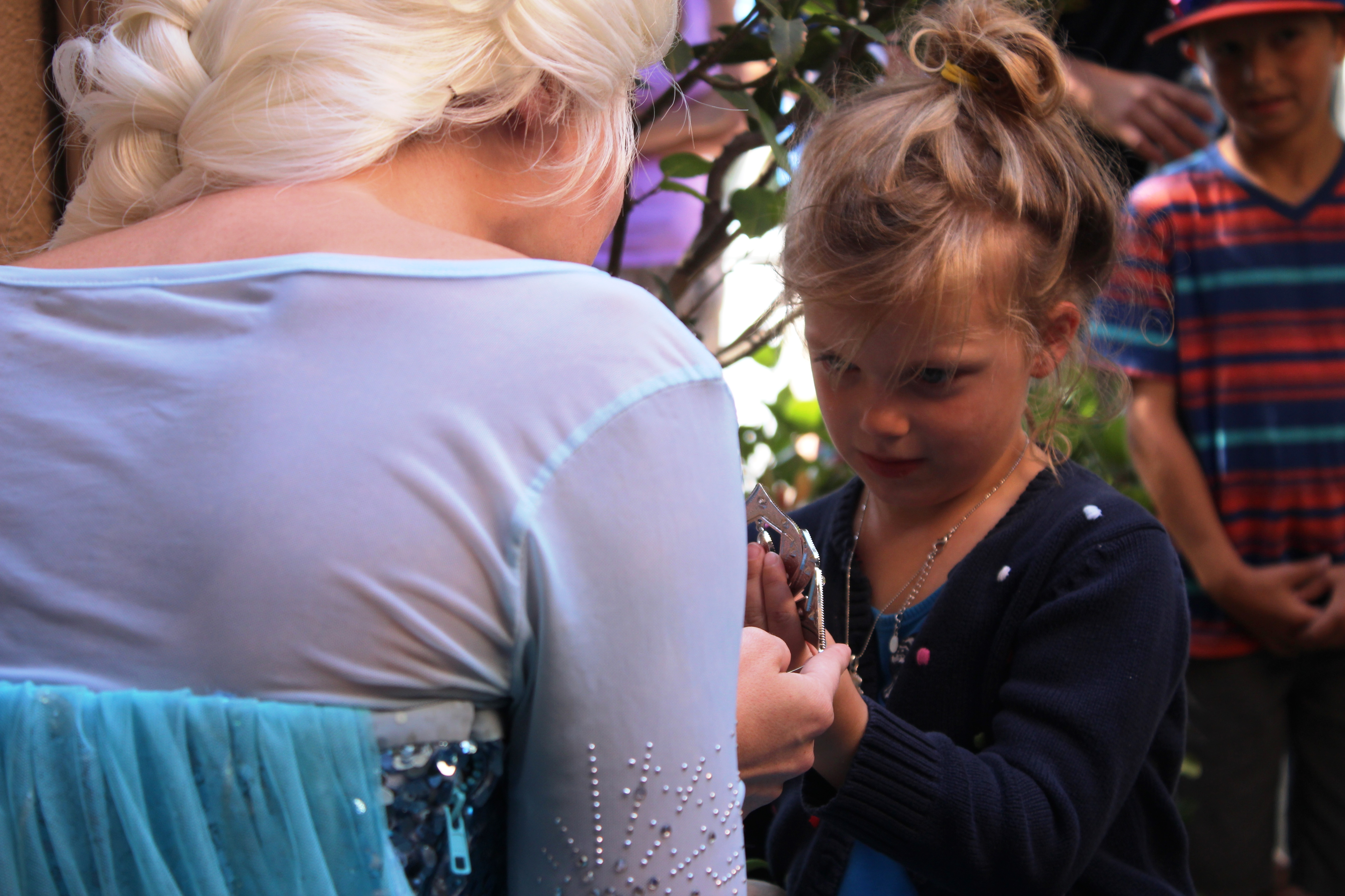 Waiting for 5-year-old Raelyn Beckler at her Dana Point home was Queen Elsa, from Disney's latest hit Frozen. Raelyn was in awe as Elsa placed a crown upon her head and the pair, hand-in-hand, went to see Raelyn's new bedroom. Photo: Andrea Papagianis