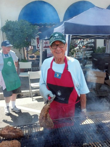 Guy Varriano cooking up some tri-tip.