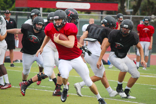 Senior quarterback Sam Darnold will lead the San Clemente High School football team as they head into the 2014 season and Sea View League play. Photo: Steve Breazeale