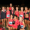 The San Clemente girls cross country team posted the third-best point value among Orange County teams at the Woodbridge Invitational on Sept. 20. Photo: John Carroll
