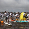 Elite racers make a dash to the finish line at a past Battle of the Paddle. Photo: Pat Huber