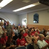 """Many residents came to Tuesday's San Clemente City Council meeting with shirts reading """"Save San Clemente Hospital."""" Photo: Jim Shilander"""