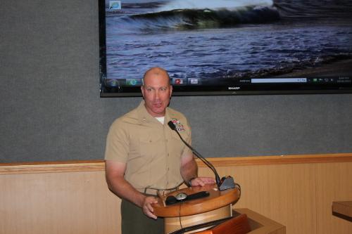 Lt. Col Mike Wilonsky, commander of Second Battalion, Fourth Marines. Photo: Jim Shilander