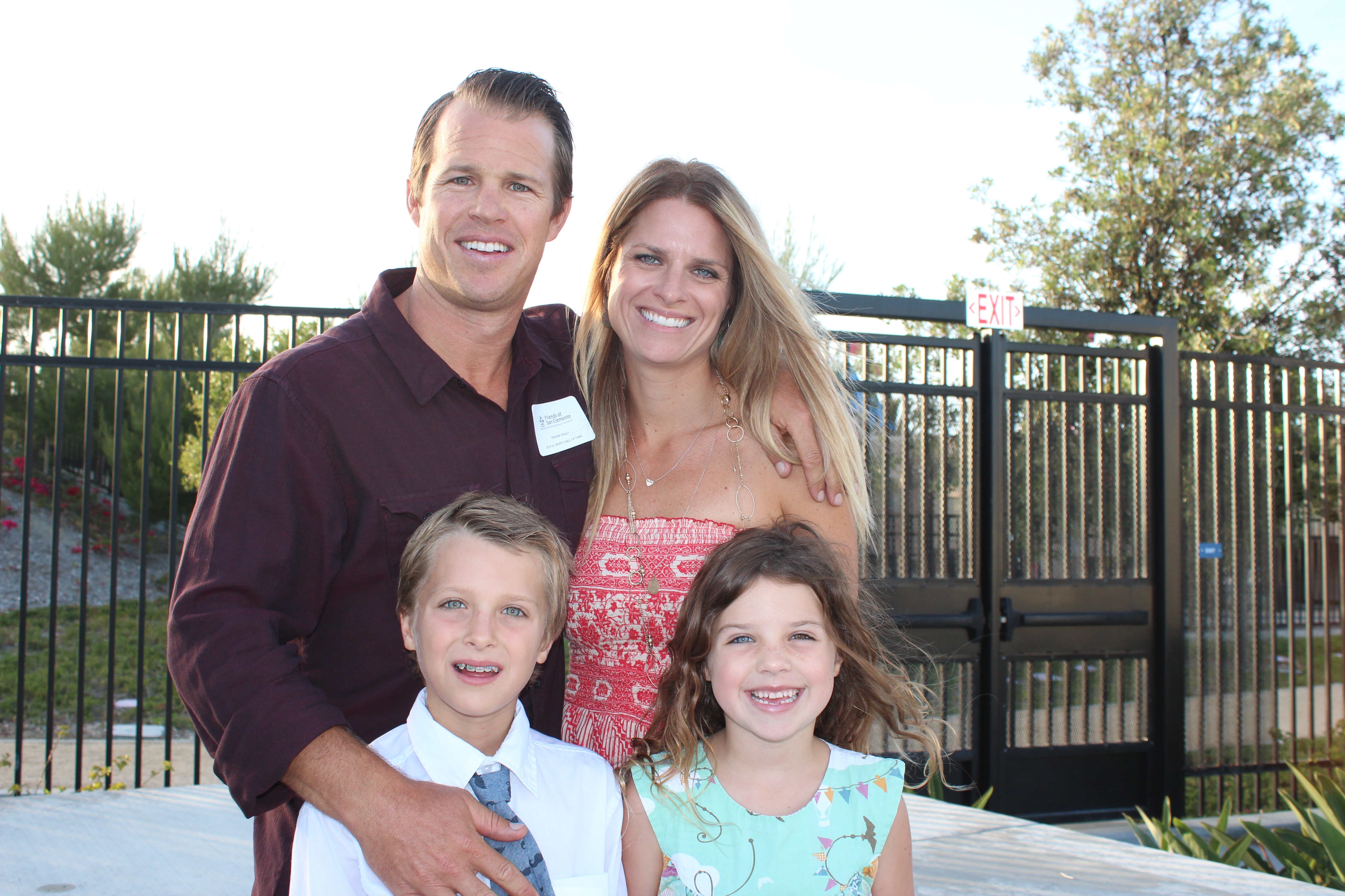 Trevor Insley poses with his wife, Nicki, son Ryder and daughter Emry at the 2014 San Clemente Sports Hall of Fame induction ceremony in May. Photo: Jim Shilander