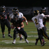 San Clemente junior running back Vlad Dzhabiyev had a game-high 142 rushing yards and four touchdowns against Capistrano Valley on Oct. 10. Photo: Alan Gibby, Zone57