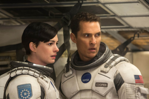 Matthew McConaughey and Anne Hathaway in INTERSTELLAR, from Paramount Pictures and Warner Brothers Pictures, in association with Legendary Pictures.