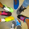 I'm a Shoe Angel gave away shoes to eight area youth last month. Photo: Courtesy Suzanne Ansari