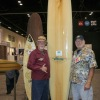 """Surfers Jack """"Murph the Surf"""" Murphy and Dick Catri are shown here in January at Surf Expo in Florida with Murphy's """"Parole Board."""" Photo: Sharon Marshall"""