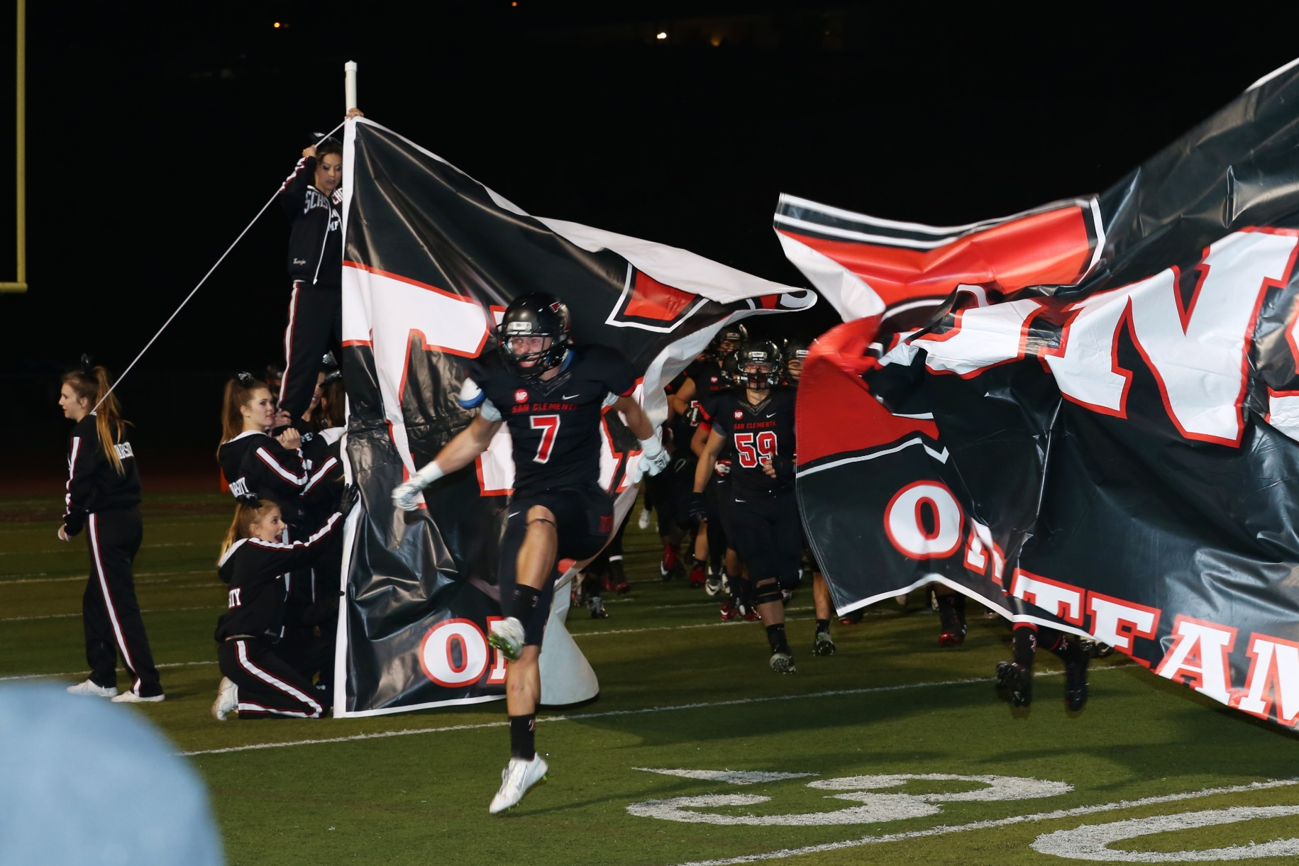 The San Clemente High School football team will play Trabuco Hills Dec. 5 for the CIF-SS Southwest Division Championship. Photo: Alan Gibby, zone57