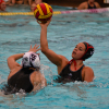 Marrisa Echelberger passes the ball during the San Clemente girls water polo match against Mater Dei on Dec. 16. Photo: KDahlgren Photography