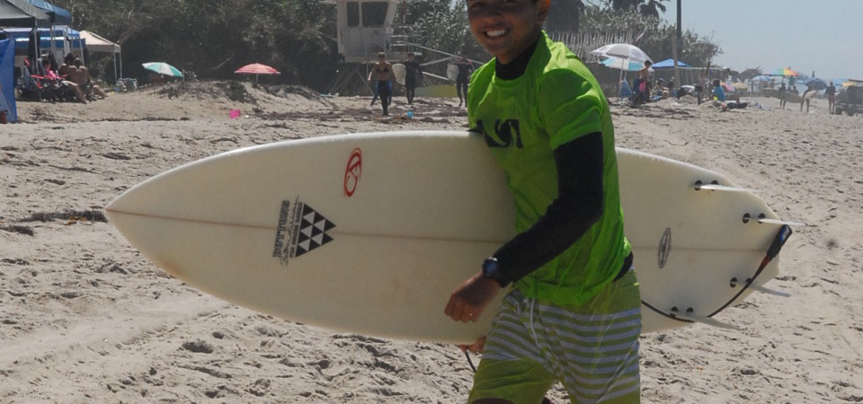 Josh Iwai was struck by a board nearly two weeks ago and saved from drowning by Capistrano Beach surfer Jeff Russell. Photo: Courtesy of Craig Iwai.