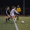 San Clemente's Sophia Spralja, right, pursues the ball against Upland on Feb. 20. Photo: KDahlgren Photography