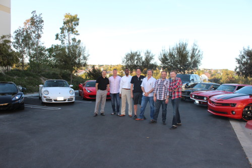 A group of friends have come together to restart the South OC Cars and Coffee event at the Target store in San Clemente. The cars shown include a McLaren 12C, Ferrari 458, three Porsches, a Shelby Mustang and both a 1969 and recent vintage Chevrolet Camaro. Photo: Jim Shilander