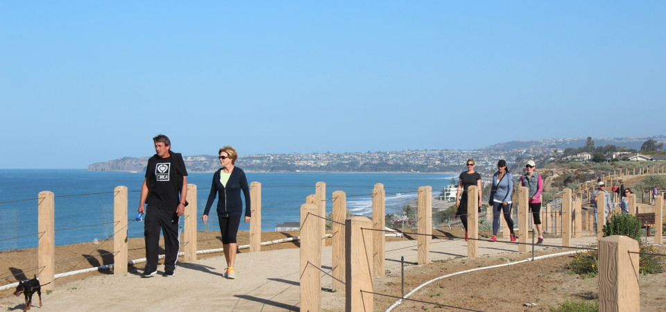 San Clemente residents got the opportunity to celebrate the opening of the city's newest trail system Sunday at Marblehead. Photo: Alyssa Garrett