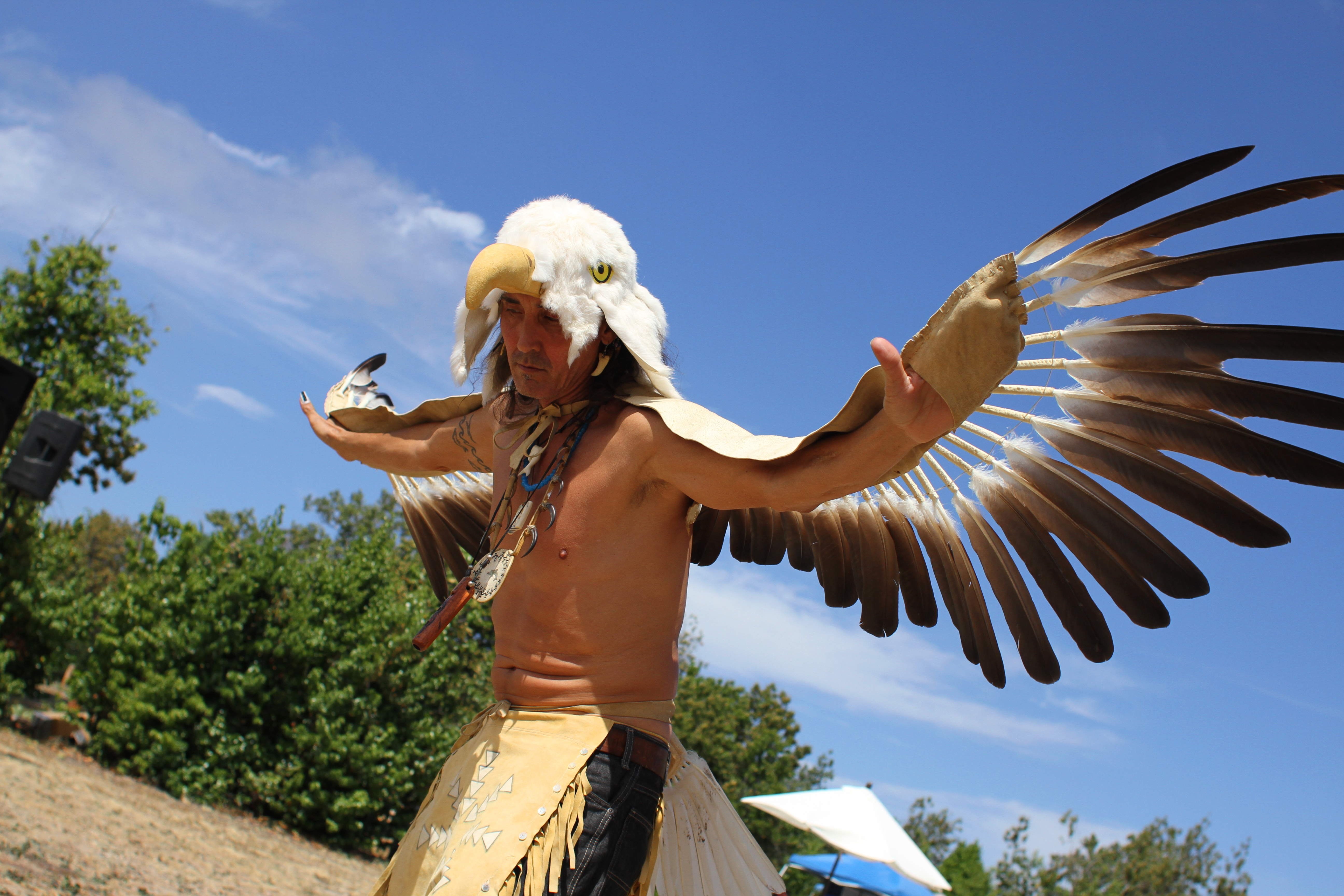 Steve Garcia of San Diego performs a traditional eagle dance at the event. Photo by Andrea Swayne