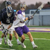 San Clemente's Stone Sims, right, and the Albany University men's lacrosse team will play Cornell in the opening round of the 2015 NCAA Tournament on May 9. Photo: Greg Wall