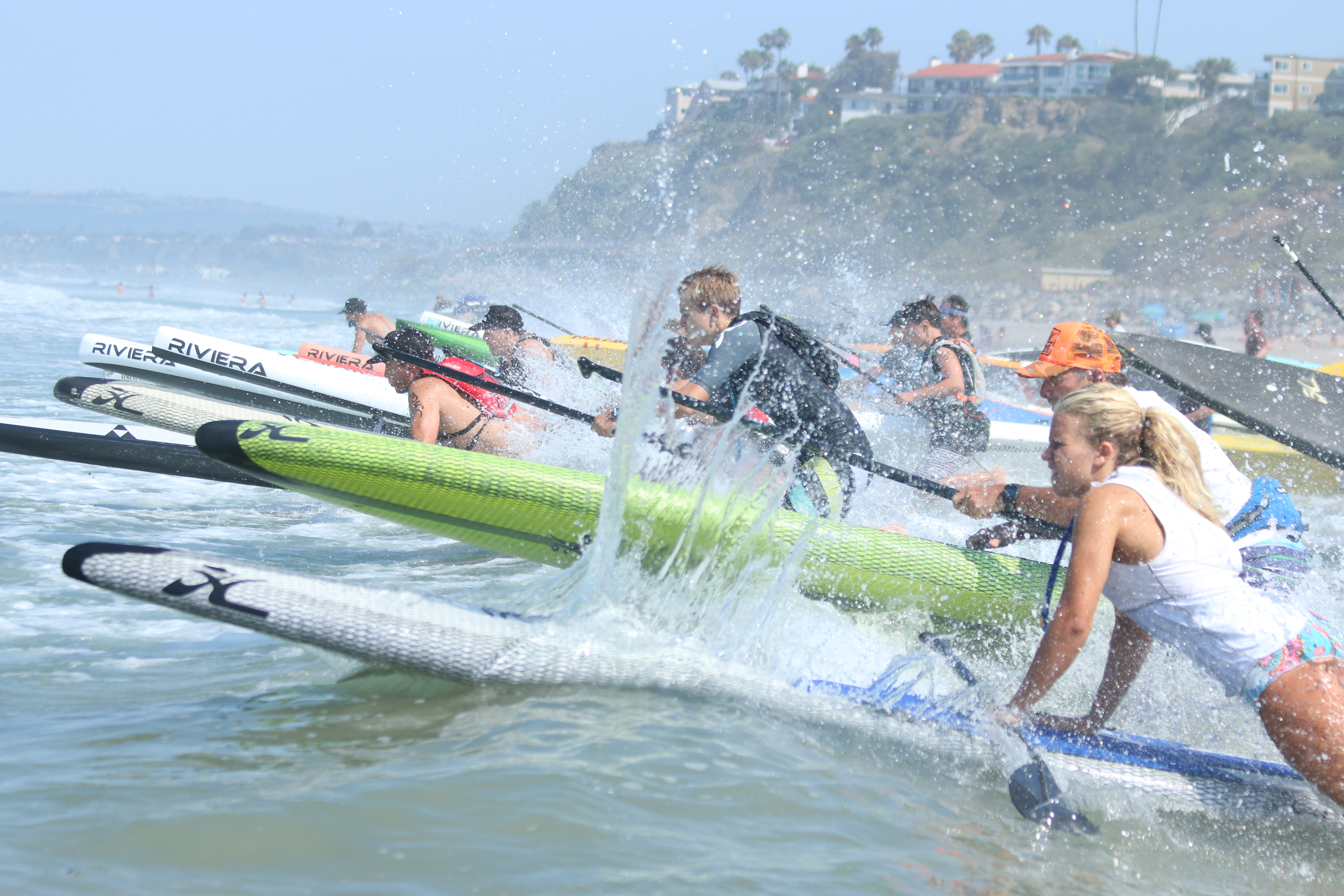 Stand up paddle board competitions at the 2015 Ocean Festival in San Clemente. Photo: Eric Heinz