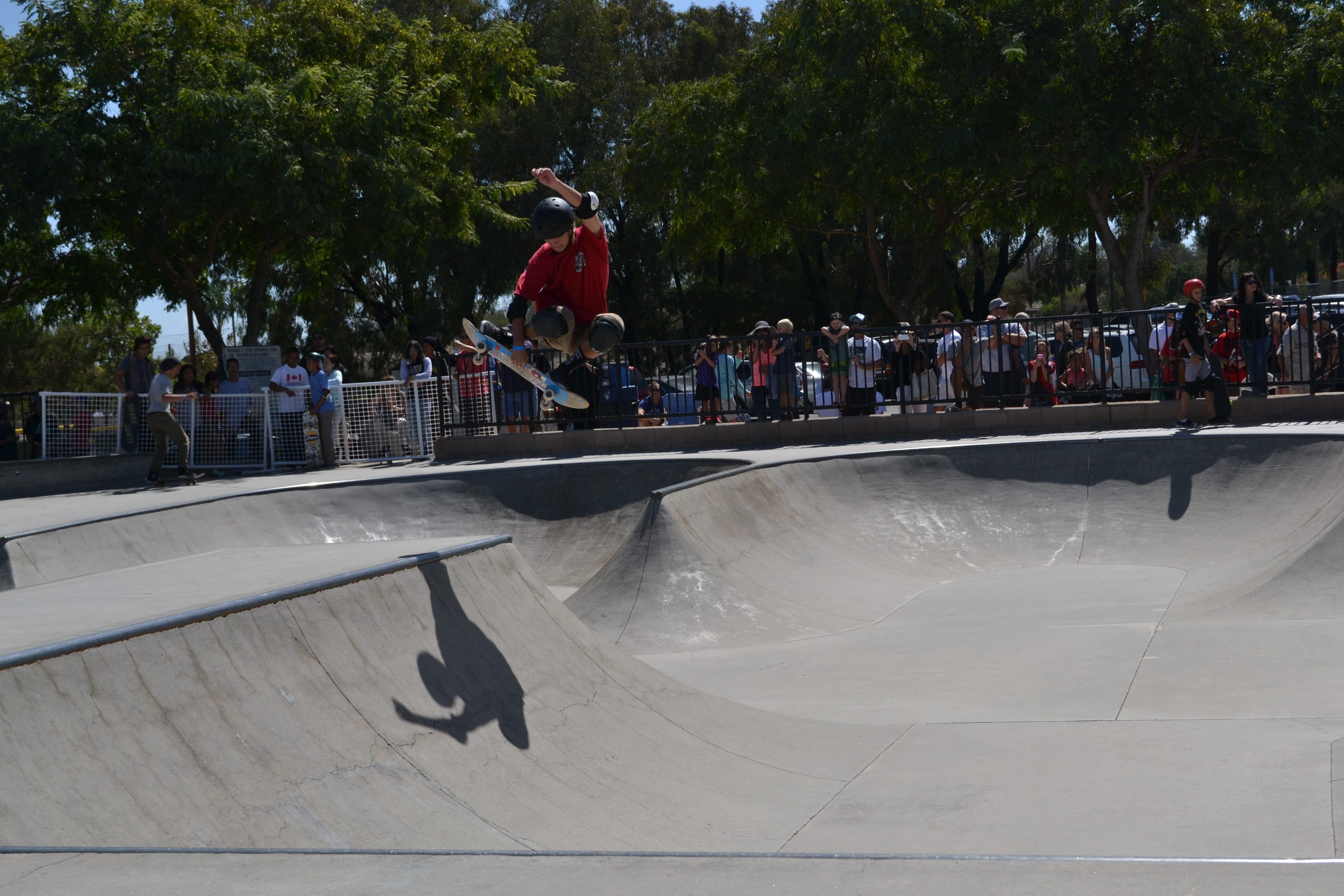 A contestant makes a run through Ralphs Skate Court while the crowd looks on during last year's SC Open Skate Contest. Photo: Courtesy