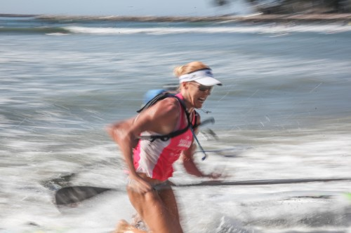 Candice Appleby at Pacific Paddle Games, Oct. 10-11, Doheny State Beach. Photo: Alex Paris