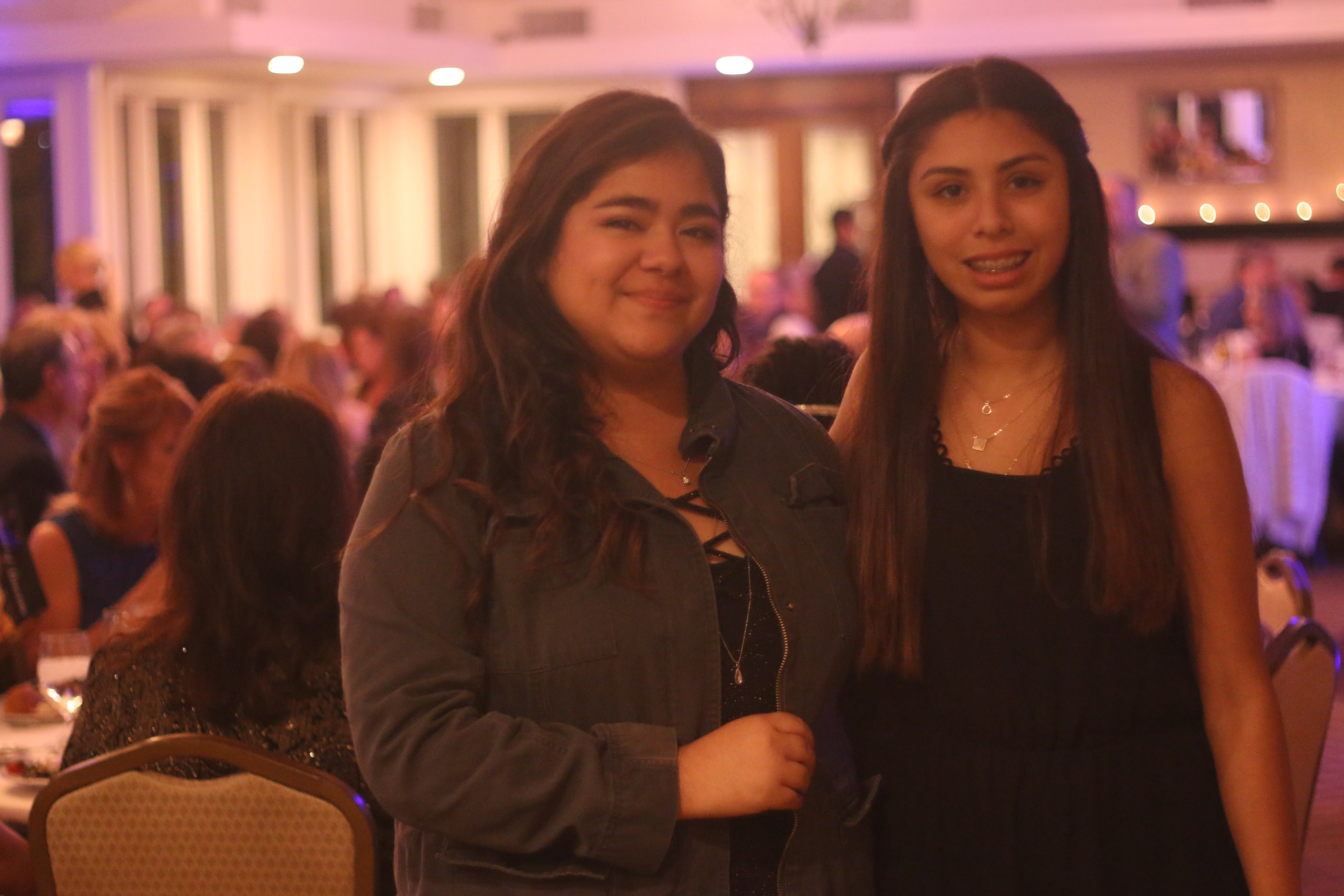 Youth of the Year Lucia Vega (left) and Brianna Fernandez, junior Youth of the Year, attend the Boys & Girls Club annual gala Saturday, Nov. 21 at Bella Collina Towne & Golf Club.