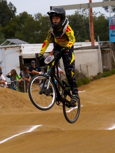 San Clemente's Ryan Goodwin pedals through the track at the USABMX California State Championships. Photo: Courtesy
