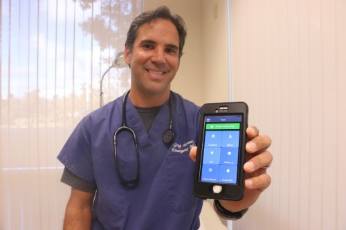 Greg Moreno, MD, started a mobile app in 2015 for patients to ask questions about their health. Now he is opening an advanced urgent care facility in San Clemente. Photo: File by Eric Heinz