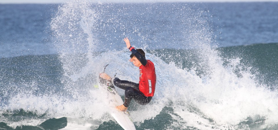 Griffin Colapinto of San Clemente turned in the winning performance in Boys U18 at Surfing America Prime event No. 5, Jan. 16-17 at Seaside Reef. Photo: Andrea Swayne