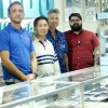 The employees of Paradise Jewelers (L to R) Josh Gusse, Eon Kang, owner Rick Dunning and Randy Loeber. Photo: Eric Heinz