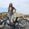 San Clemente's Beth Sanden rode her custom hand-cycle while competing in the Pho Quoc International Marathon in Vietnam. Photo: Steve Breazeale