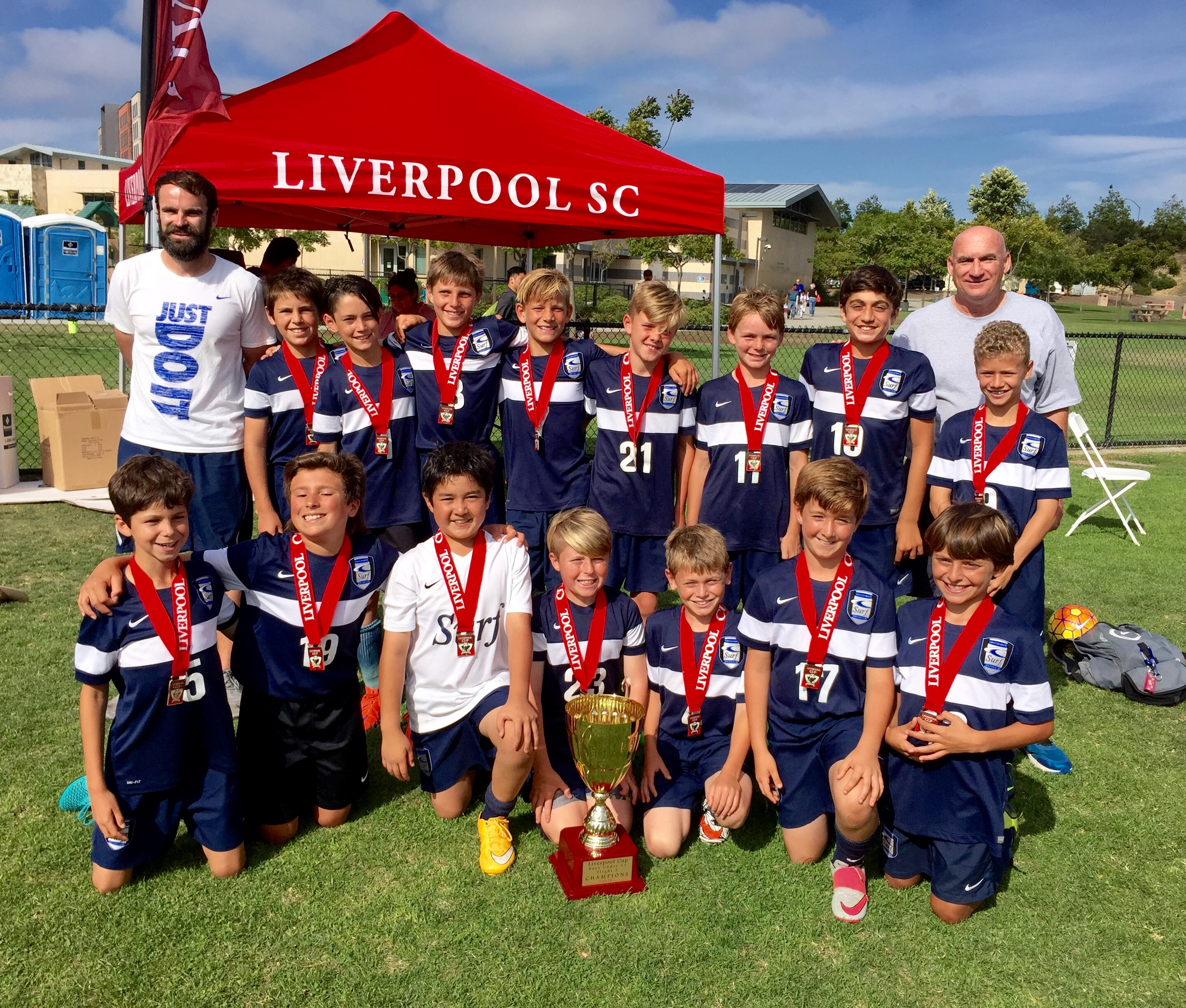 The SC Surf Boys 2005's team won its division at the Liverpool Cup in San Diego on June 4. Photo: Courtesy