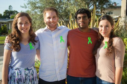 From left, Megan Habel, Brian McInerney, Vishant Kumar and Mishayla Jones of the Green Ribbon Club. Photo: Allison Jarrell
