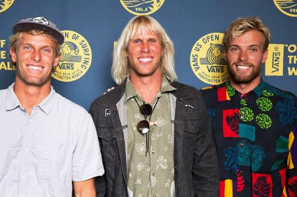 Dane Gudauskas (center) with his brothers.