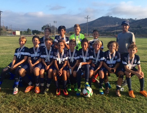 The SC Surf boy's 2003 team were finalists at the South County Showcase tournament on Aug. 7. Photo: Courtesy