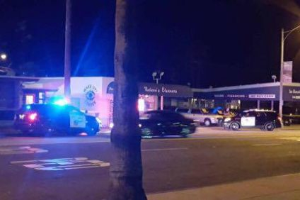 Orange County Sheriff's deputies respond to a shooting that look place just before 8:30 p.m. on Sunday, Sept. 4. A man was shot, but his condition has not yet been released. Photo: Courtesy of Camille Wyatt