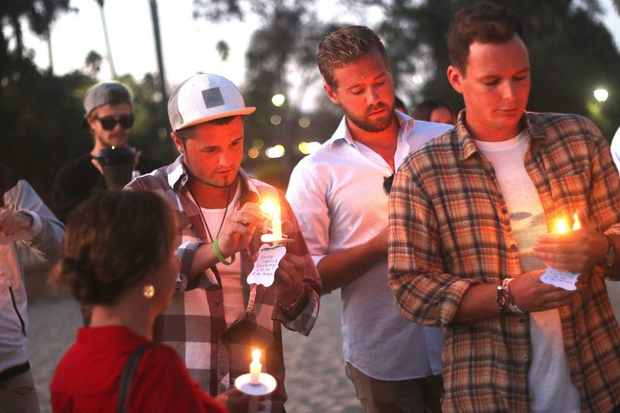 Supporters and recovering addicts gathered Thursday, Sept. 15, at Doheny State Beach to acknowledge the progress of those in recovery and celebrate their personal achievements. Photo: Eric Heinz