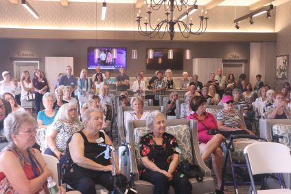People gathered to attend the launch of San Clemente Village on Wednesday, Sept. 21, at the Outlets at San Clemente. Photo: Eric Heinz