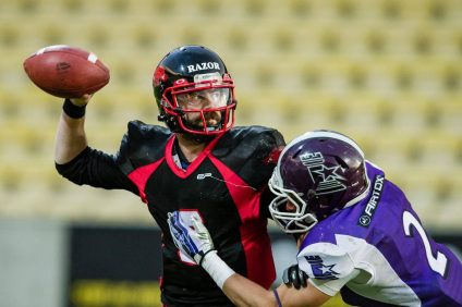 Duke DeLancellotti guided the Triangle Razorbacks to the Danish National League football title on Oct. 10. Photo: 1st Down Photo