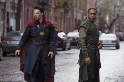 Marvel's DOCTOR STRANGE..L to R: Doctor Stephen Strange (Benedict Cumberbatch) and Mordo (Chiwetel Ejiofor) ..Photo Credit: Jay Maidment..©2016 Marvel. All Rights Reserved.